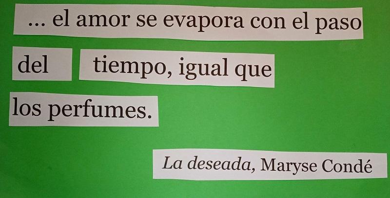 Frase de La Deseada, de Maryse Condé